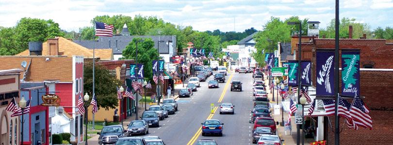 Downtown Cumberland, Wisconsin